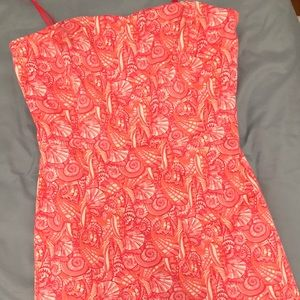 Strapless patterned Vineyard Vines Dress